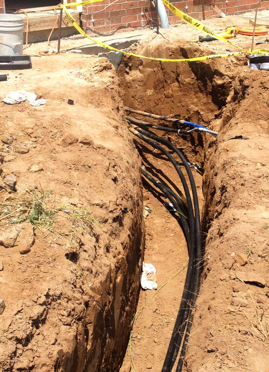 Photo of Geothermal Piping Installation