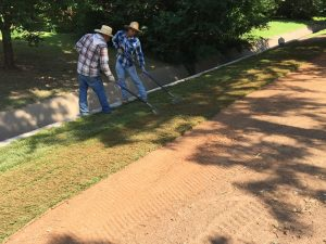 Skilled Workers Installing Sod in Enid OK