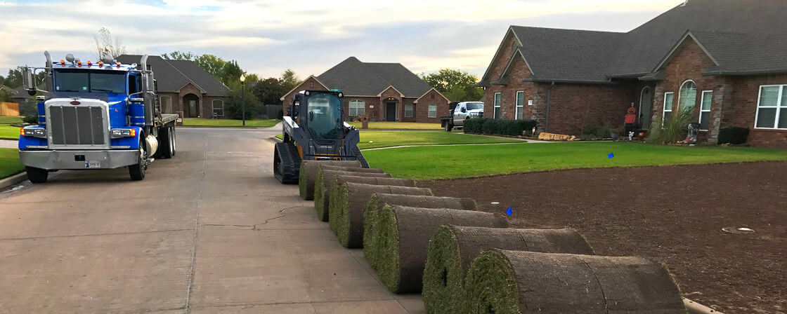 Sod Ready for Installation in Enid OK