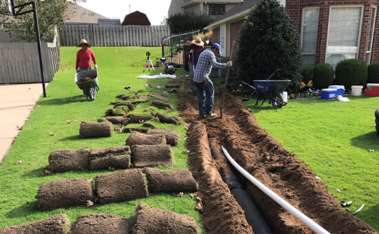 Photo of Lang Well Drilling French Drain Installation